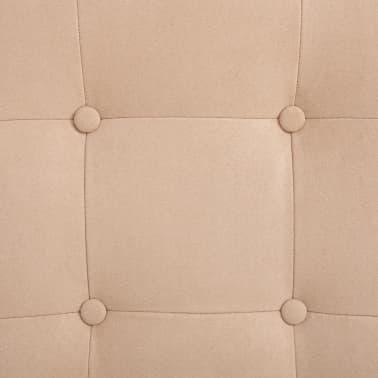 vidaXL Masažni fotelj s stolčkom za noge krem semiš blago[9/10]