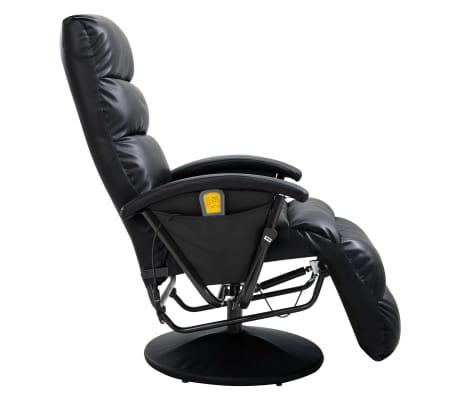 vidaXL Atlošiamas masažinis TV krėslas, juodos sp., dirbtinė oda[4/8]