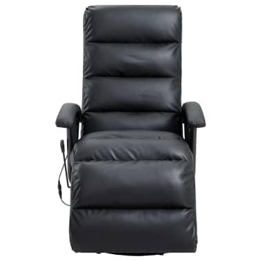 vidaXL Atlošiamas masažinis TV krėslas, juodos sp., dirbtinė oda[3/8]