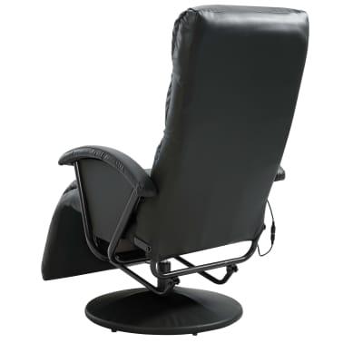 vidaXL Atlošiamas masažinis TV krėslas, juodos sp., dirbtinė oda[6/8]