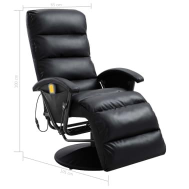 vidaXL Atlošiamas masažinis TV krėslas, juodos sp., dirbtinė oda[8/8]