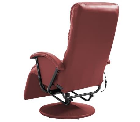 vidaXL Fauteuil de massage TV Rouge bordeaux Similicuir