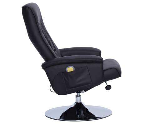 vidaXL Atlošiamas masažinis krėslas su pakoja, juodos sp., dirbt. oda[5/9]