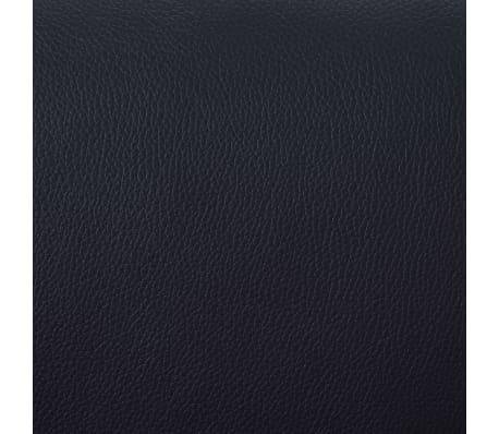 vidaXL Atlošiamas masažinis krėslas su pakoja, juodos sp., dirbt. oda[8/9]