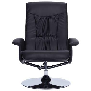 vidaXL Atlošiamas masažinis krėslas su pakoja, juodos sp., dirbt. oda[6/9]