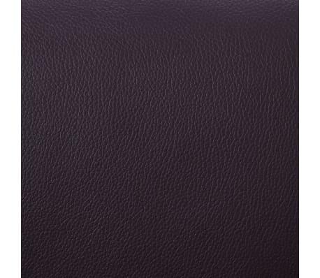 vidaXL Fotel do masażu z podnóżkiem, regulowany, brązowy, ekoskóra[8/9]