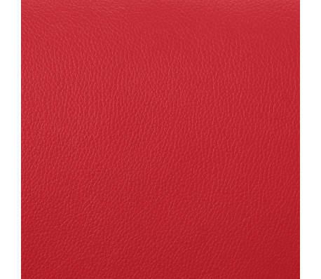 vidaXL Atlošiamas masažinis krėslas su pakoja, raud. sp., dirbt. oda[8/9]