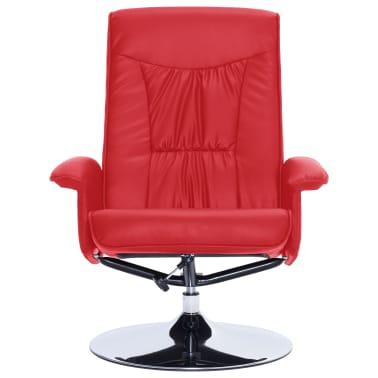 vidaXL Atlošiamas masažinis krėslas su pakoja, raud. sp., dirbt. oda[6/9]