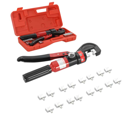 vidaXL Hydraulické lisovací kleště 4–6–8–10–16–25–35–60 mm²