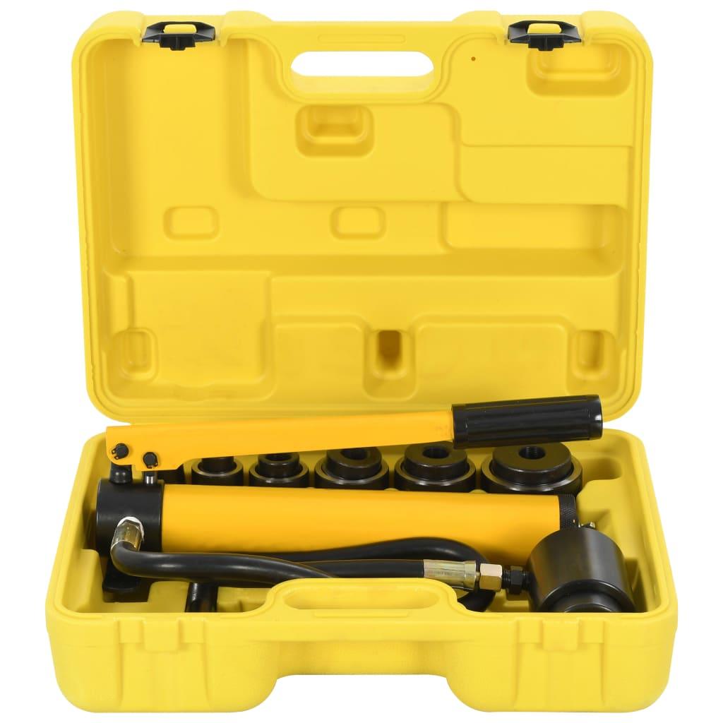 vidaXL Sada hydraulického děrovače 22–60 mm