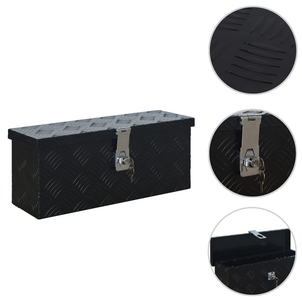 vidaXL Hliníkový box 485 x 140 x 200 mm černý