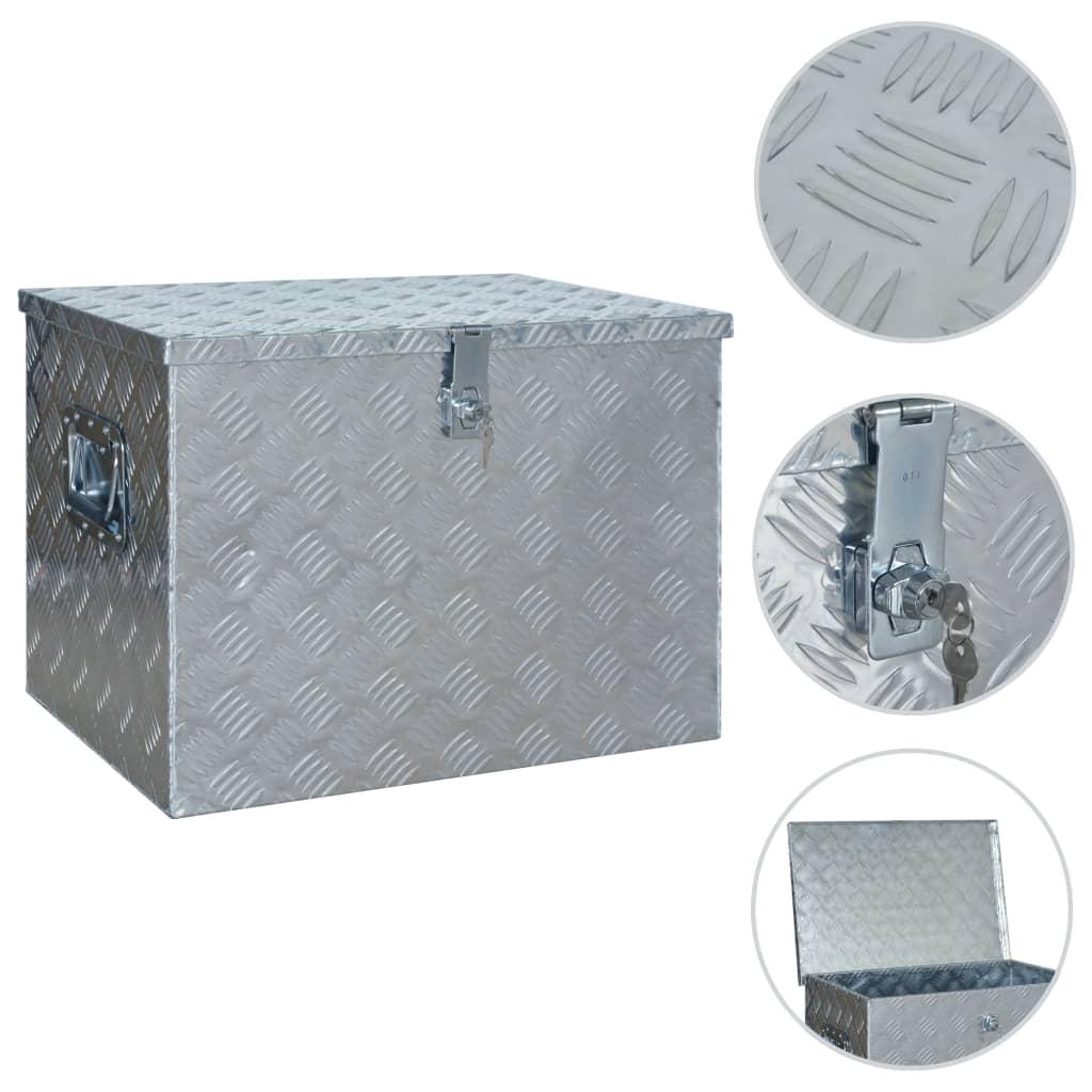Alumiiniumist kast 610 x 430 x 455 mm, hõbedane