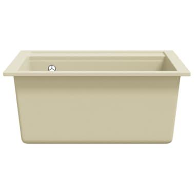 vidaXL Évier de cuisine Granit Seul lavabo Beige[4/4]