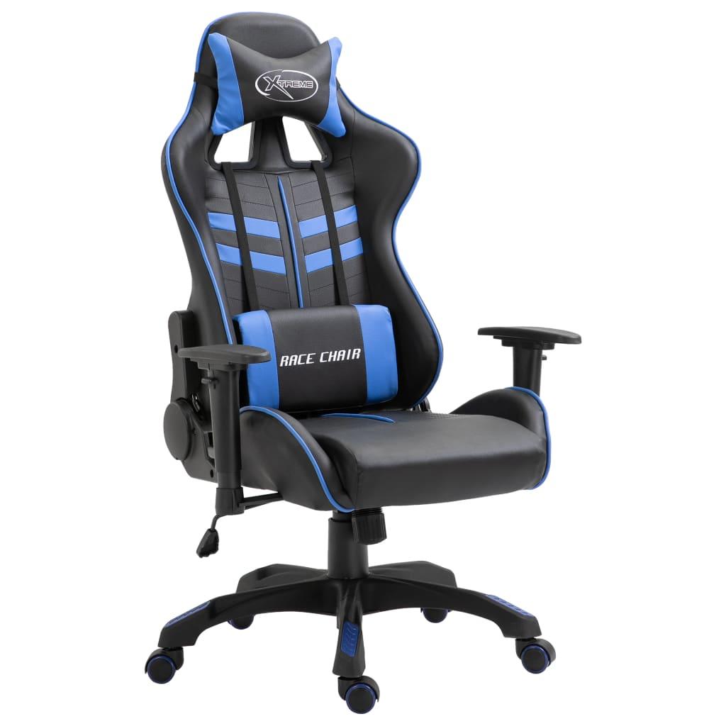 Herní židle modrá PU