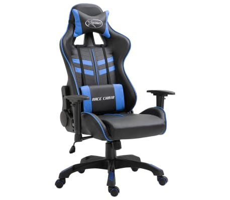 vidaXL Sedia da Gaming Blu in Similpelle