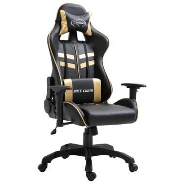 vidaXL Gaming-Stuhl Golden Kunstleder[1/9]