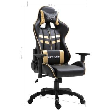 vidaXL Gaming-Stuhl Golden Kunstleder[9/9]