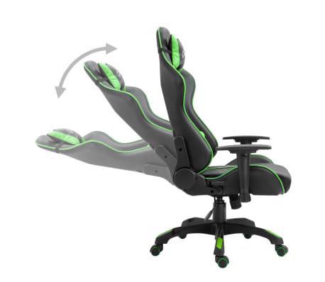 vidaXL Žaidimų kėdė, žalios spalvos, dirbtinė oda[3/9]