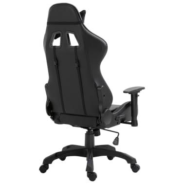 vidaXL Žaidimų kėdė, pilkos spalvos, dirbtinė oda[4/9]