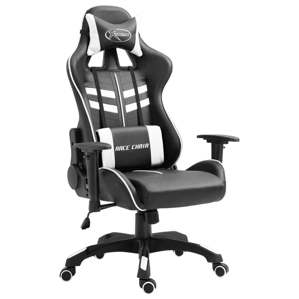 vidaXL Sedia da Gaming Bianca in Similpelle