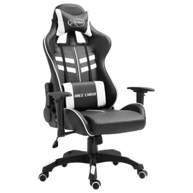 vidaXL Fotel dla gracza, biały, PU[1/9]