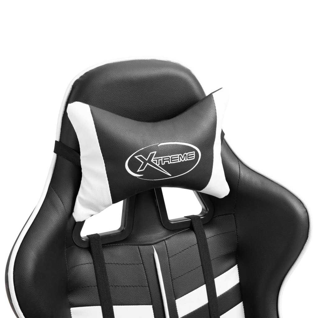 Herní židle bílá umělá kůže