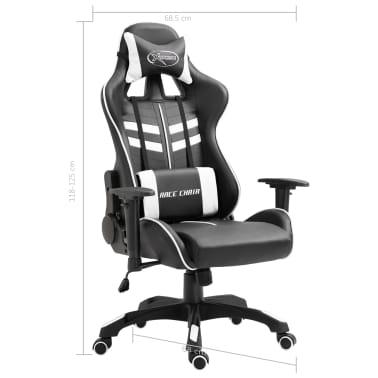 vidaXL Fotel dla gracza, biały, PU[9/9]