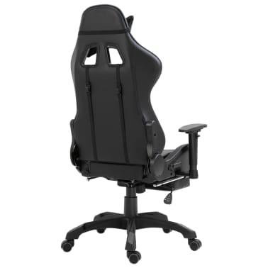 vidaXL gamingstol med fodstøtte kunstlæder grå[5/11]