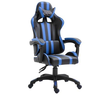 vidaXL Chaise de jeu Bleu Similicuir