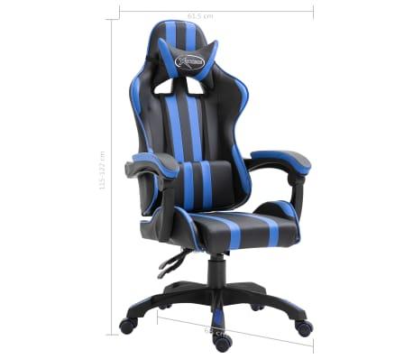 Vidaxl Gaming Stuhl Blau Pu