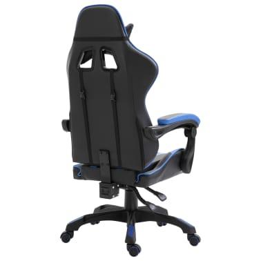 Vidaxl Gaming Stuhl Blau Pu Zum Schnappchenpreis Vidaxl At