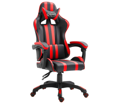 vidaXL Chaise de jeu Rouge Similicuir