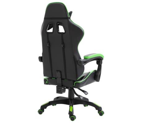 vidaXL Žaidimų kėdė, žalios spalvos, dirbtinė oda[4/9]