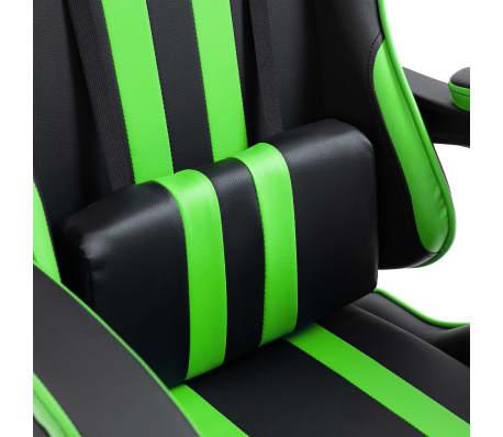 vidaXL Žaidimų kėdė, žalios spalvos, dirbtinė oda[6/9]