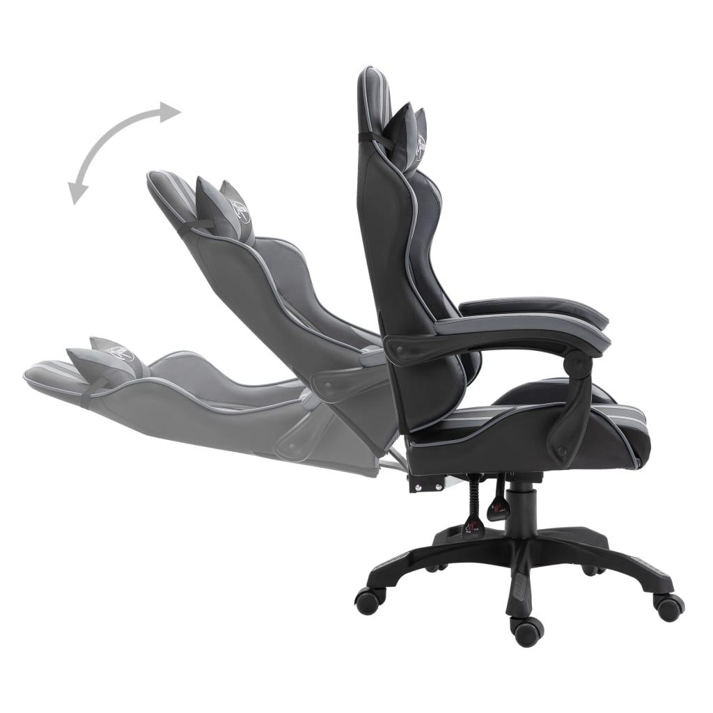 Herní židle šedá umělá kůže