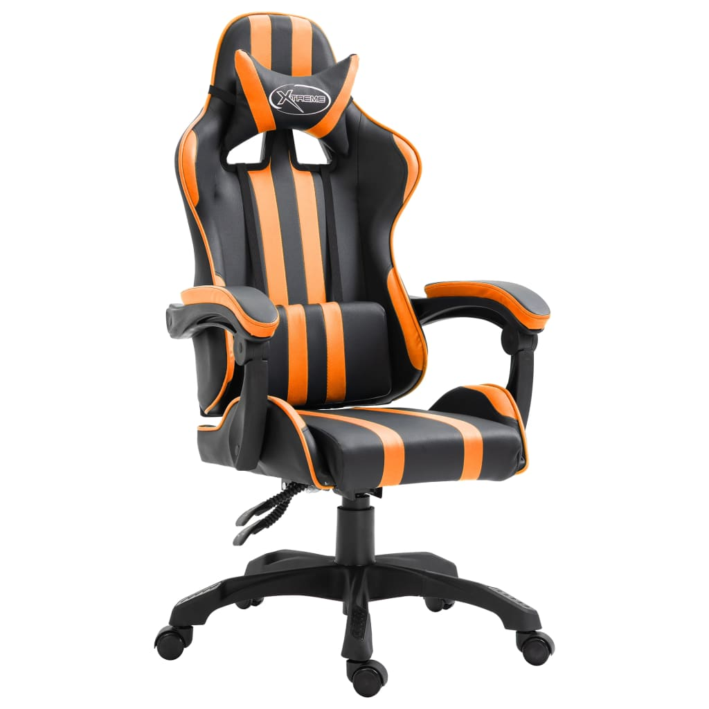 vidaXL Sedia da Gaming Arancione in Similpelle