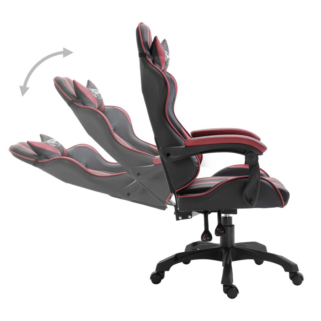Herní židle vínová umělá kůže
