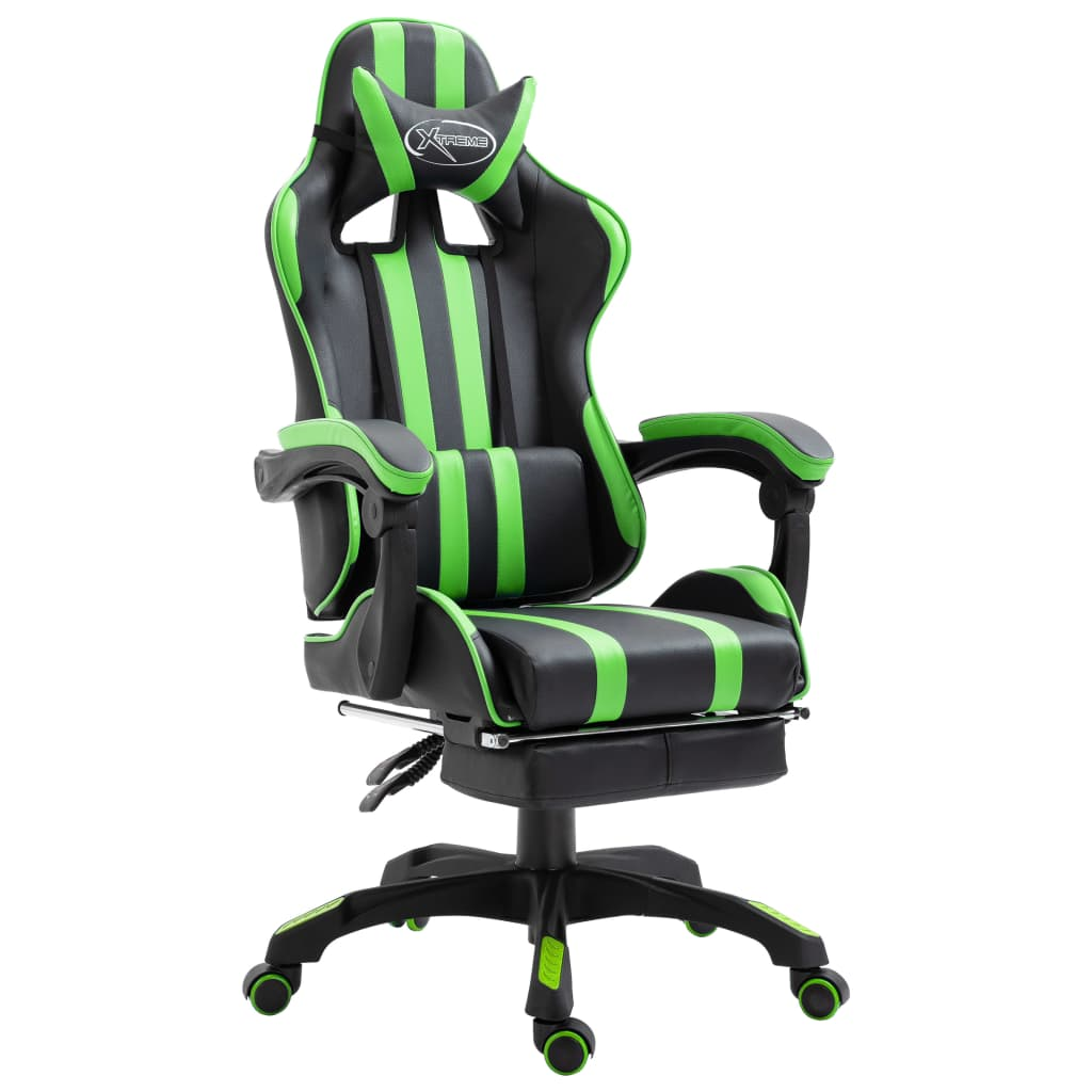 Mänguritool jalatoega roheline, kunstnahk