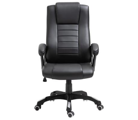 vidaXL Chaise de bureau Noir Similicuir[2/9]