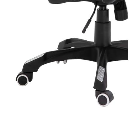 vidaXL Chaise de bureau Noir Similicuir[7/9]