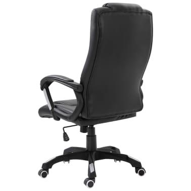 vidaXL Chaise de bureau Noir Similicuir[3/9]