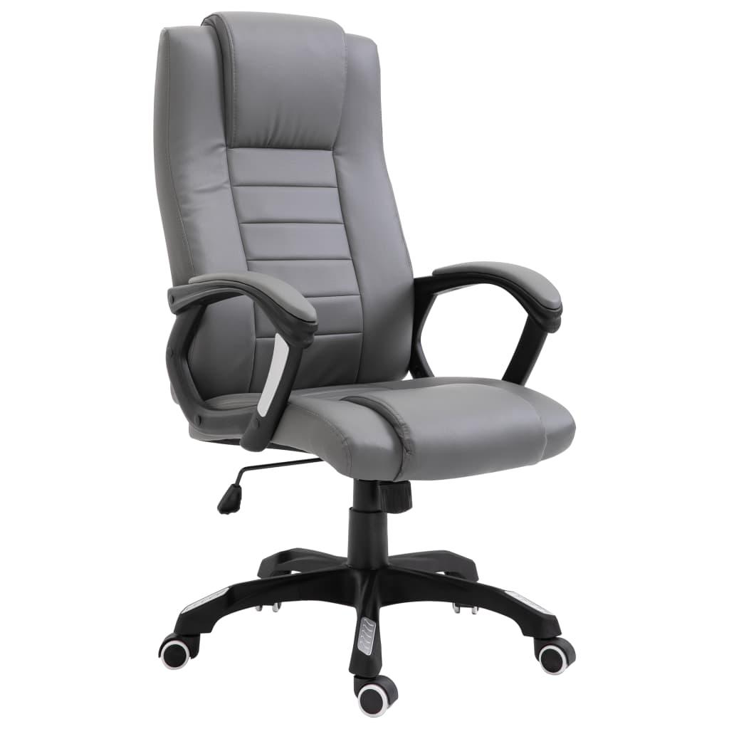 vidaXL Kancelářská židle antracitová umělá kůže