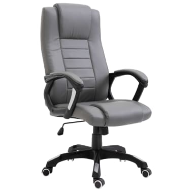 vidaXL Chaise de bureau Anthracite Similicuir[1/8]