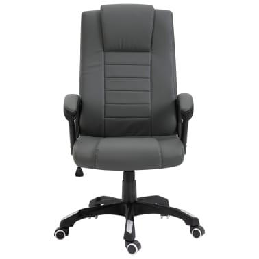 vidaXL Chaise de bureau Anthracite Similicuir[2/8]