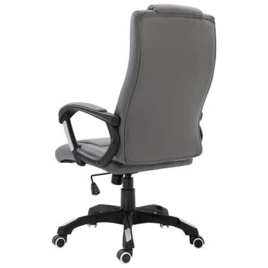 vidaXL Chaise de bureau Anthracite Similicuir[3/8]