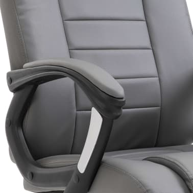 vidaXL Chaise de bureau Anthracite Similicuir[6/8]