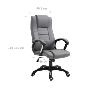 vidaXL Chaise de bureau Anthracite Similicuir[8/8]