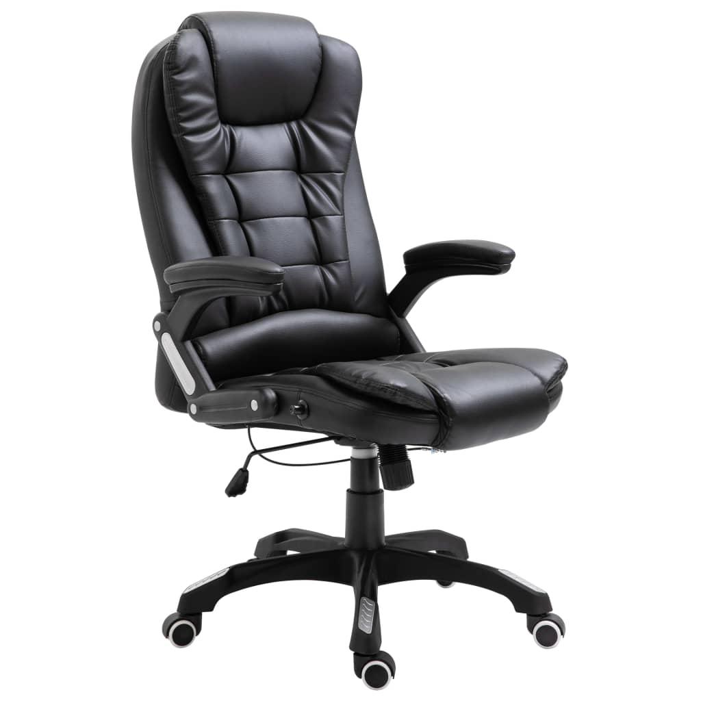 Kancelářská židle černá umělá kůže