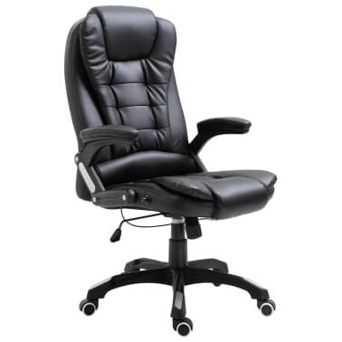 vidaXL Biuro kėdė, juoda, dirbtinė oda[1/10]