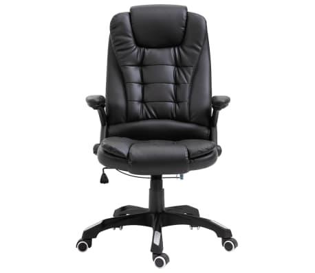 vidaXL Chaise de bureau Noir Similicuir[2/10]
